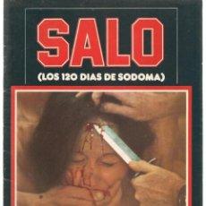 Cine: SALO (LOS 120 DIAS DE SODOMA). PASOLINI. EDITA MIRASIERRA. 1977. (B/A60). Lote 147465454