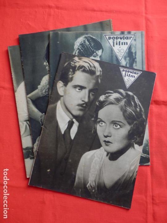 LOTE 4 REVISTAS POPULAR FILM, NÚM. 309-185-272 Y 304. MEDIDAS 24X33 CMS. (Cine - Revistas - Popular film)
