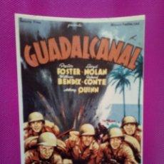 Cine: FOTOGRAFIA CARTEL PELICULA GUADALCANAL MEDIDAS 17 CM POR 12,5 CM. Lote 147552190