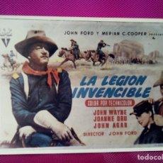 Cine: FOTOGRAFIA CARTEL PELICULA LA LEGION INVENCIBLE MEDIDAS 17 CM POR 12 CM. Lote 147552214