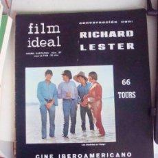 Cine: REVISTA FILM IDEAL N-187.AÑO 1966.THE BEATLES.. Lote 147565918