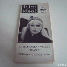 Cine: FILM IDEAL.LIBRO,TOMO.CRITICAS Y DOCUMENTACION.N-209. Lote 147568202