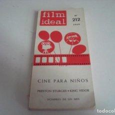 Cine: FILM IDEAL.LIBRO,TOMO.N-212. Lote 147568334