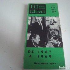 Cine: FILM IDEAL.LIBRO-TOMO.N-205-206-207. Lote 147568466