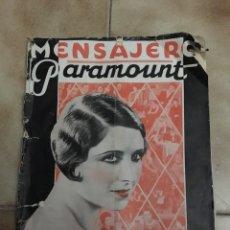 Cine: MENSAJERO PARAMOUNT NOVIEMBRE 1930. Lote 147658517