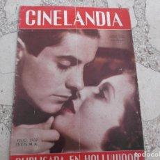 Cine: CINELANDIA TOMO XI Nº 7, JULIO 1937, TYRONE POWER Y LORETTA YOUNG EN CAFE METROPOLE,. Lote 148011418