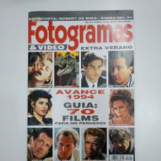 Cine: FOTOGRAMAS Nº. 1 EXTRA VERANO 1993 - ROBERT DE NIRO / AVANCE 1994: TOM CRUISE / HARRISON FORD TDKR26. Lote 148065874