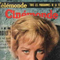 Cine: CINÉMONDE Nº 1251 - 31 JULIO 1958 - PIER ANGELI - MARILYN MONROE. Lote 148170510