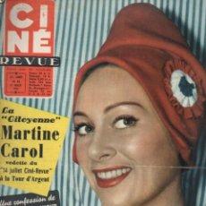 Cine: CINÉ REVUE Nº 28 - 12 JULIO 1957 - MARILYN MONROE. Lote 148172262