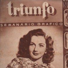 Cine: TRIUNFO SEMANARIO GRÁFICO Nº 37 - 12 OCTUBRE 1946. Lote 148173306
