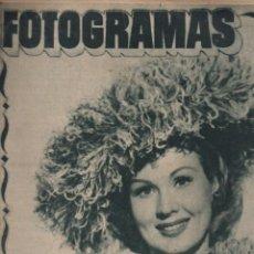 Cine: FOTOGRAMAS Nº 51 - 15 DICIEMBRE 1948. Lote 148174498