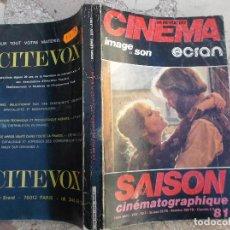 Cine: LA REVUE DU CINEMA IMAGE ET SON ECRAN,LA SAISON CINEMATOGRAPHIQUE 81,HORS SERIE XXV EN FRANCES. Lote 148892562
