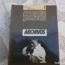 Cinéma: ARCHIVOS DE LA FILMOTECA GENERALITAT VALENCIANA, Nº 1, ILUSTRADO, 1989. Lote 148902970