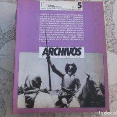Cinema: ARCHIVOS DE LA FILMOTECA GENERALITAT VALENCIANA, Nº 5 , ILUSTRADO, 1990,DON QUIJOTE ORSON WELLES . Lote 148903554