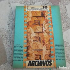 Cinema: ARCHIVOS DE LA FILMOTECA GENERALITAT VALENCIANA, Nº 10 ,1990,HISTORIA Y ARQUEOLOGIA DEL CINE. Lote 148904082