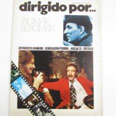 Cine: REVISTA DIRIGIDO POR... INGMAR BERGMAN, NÚM. 29, 1976, ENERO. 30X22CM. Lote 149027934