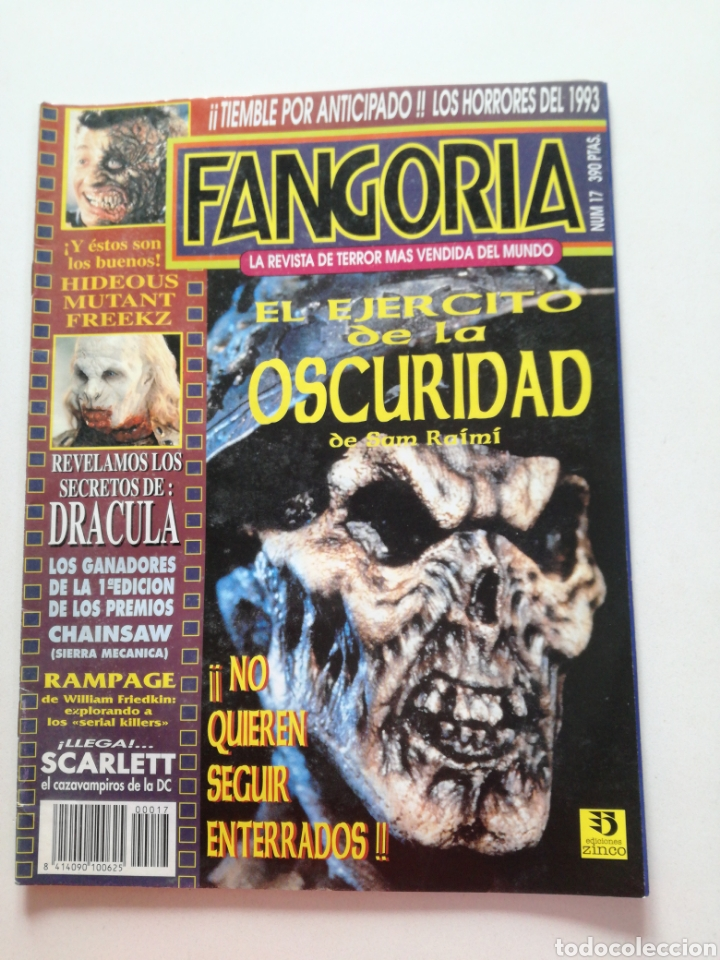 Cine: FANGORIA Nº 16 y 17 - 1992 // EL EJERCITO DE LAS TINIEBLAS SAM RAIMI EVIL DEAD 3 GORE TERROR DRACULA - Foto 10 - 149075758