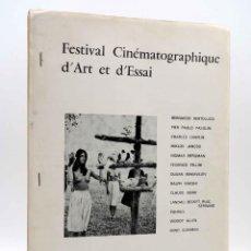 Cine: PROGRAMA. FESTIVAL CINEMATOGRAPHIQUE D'ART ET D'ESSAI. CINEMA CERETAN. EN ESPAÑOL (SIN ACREDITAR). Lote 149206854