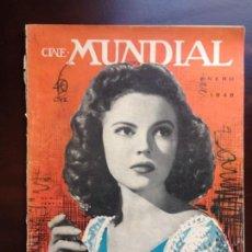 Cinema: CINE MUNDIAL - ENERO 1948 - PORTADA SHIRLEY TEMPLE. Lote 149716206