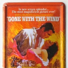 Cine: GONE WITH THE WIND - VICTOR FLEMING - LO QUE EL VIENTO SE LLEVÓ - CARTEL DE CHAPA. Lote 149857826