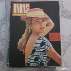 Cine: ONDAS Nº 230, ABBE LANE,FRANK SINATRA,CRUCERO DON JUAN CARLOS Y DOÑA SOFIA , 1962. Lote 149961850