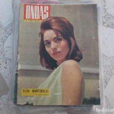 Cine: ONDAS Nº 249, ELSA M,ARTINELLI,PICASSO NO HA HECHO TESTAMENTO, 1963. Lote 149962130