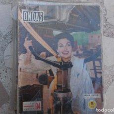 Cine: ONDAS Nº 94,MARA CORDAY,BALAÑA PROMOTOR,LAS VICETIPLES, 1956. Lote 149963342