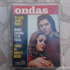 Cinema: ONDAS Nº 465, SE CASO JAIME MOREY, PORTADA MARIBEL MARTIN Y CAMILO SESTO, JUNIOR ,VICTOR MANUEL . Lote 149963654