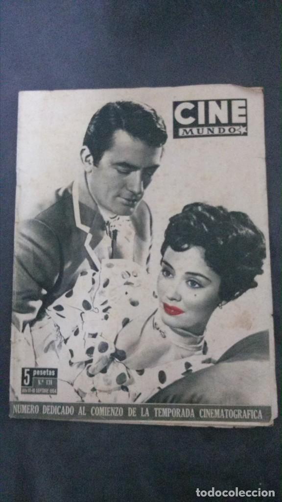 CINE MUNDO-1954-MARÍA FÉLIX-PIO BAROJA-LOLA FLORES-INDIO FERNÁNDEZ-GREGORY PECK-CLAUDETTE COLBERT (Cine - Revistas - Otros)