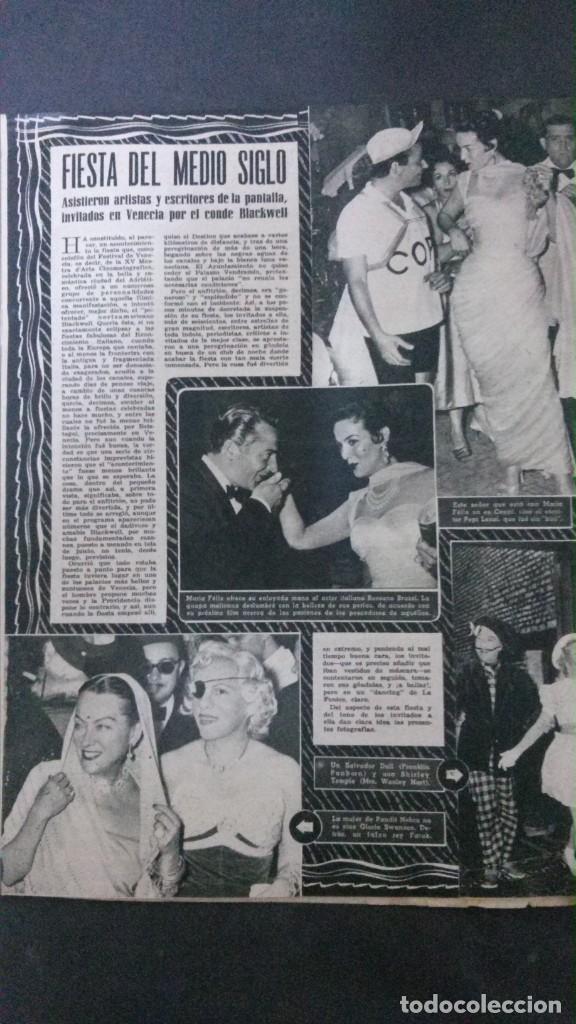 Cine: CINE MUNDO-1954-MARÍA FÉLIX-PIO BAROJA-LOLA FLORES-INDIO FERNÁNDEZ-GREGORY PECK-CLAUDETTE COLBERT - Foto 2 - 150368450
