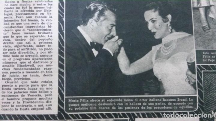 Cine: CINE MUNDO-1954-MARÍA FÉLIX-PIO BAROJA-LOLA FLORES-INDIO FERNÁNDEZ-GREGORY PECK-CLAUDETTE COLBERT - Foto 3 - 150368450