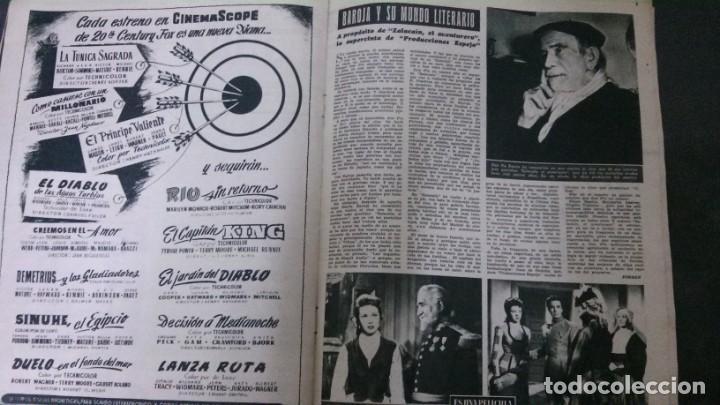 Cine: CINE MUNDO-1954-MARÍA FÉLIX-PIO BAROJA-LOLA FLORES-INDIO FERNÁNDEZ-GREGORY PECK-CLAUDETTE COLBERT - Foto 5 - 150368450