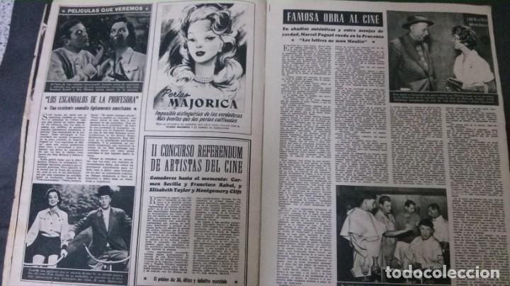 Cine: CINE MUNDO-1954-MARÍA FÉLIX-PIO BAROJA-LOLA FLORES-INDIO FERNÁNDEZ-GREGORY PECK-CLAUDETTE COLBERT - Foto 11 - 150368450