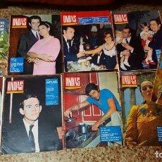 Cinema: LOTE DE 8 REVISTAS ONDAS AÑOS 60 + 1 REVISTA TELERADIO 1964. Lote 151088046