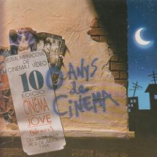 Cine: FOLLETO DÍPTICO 10ª EDICIÓN CINEMA JOVE, VALENCIA 1995 FESTIVAL INTERNACIONAL DE CINEMA I VÍDEO . Lote 151268998