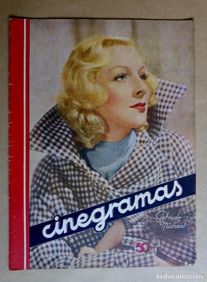 GERTRUDE MICHAEL. REVISTA CINEGRAMAS. AÑO 1935 (Cine - Revistas - Cinegramas)
