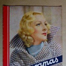 Cine: GERTRUDE MICHAEL. REVISTA CINEGRAMAS. AÑO 1935. Lote 151379582