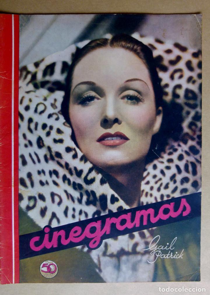 GAIL PATRICK. REVISTA CINEGRAMAS. AÑO 1936 (Cine - Revistas - Cinegramas)