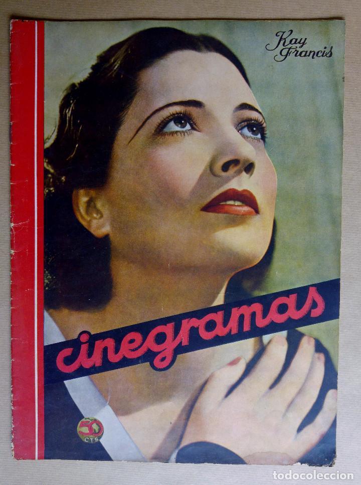 KAY FRANCIS. REVISTA CINEGRAMAS. AÑO 1935 (Cine - Revistas - Cinegramas)