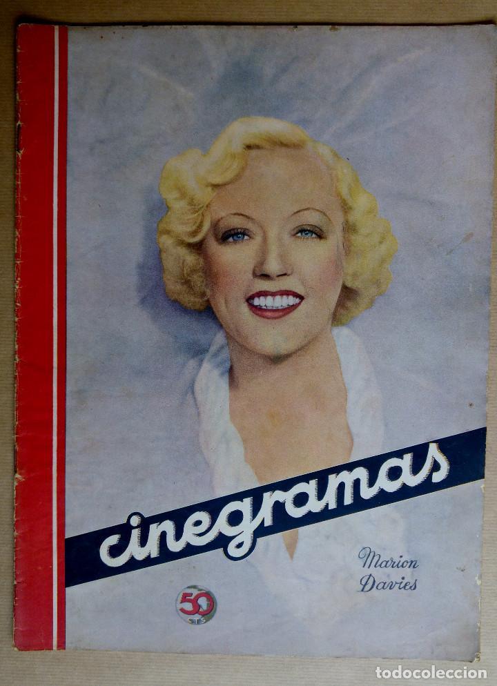 MARION DAVIES. REVISTA CINEGRAMAS. AÑO 1936 (Cine - Revistas - Cinegramas)