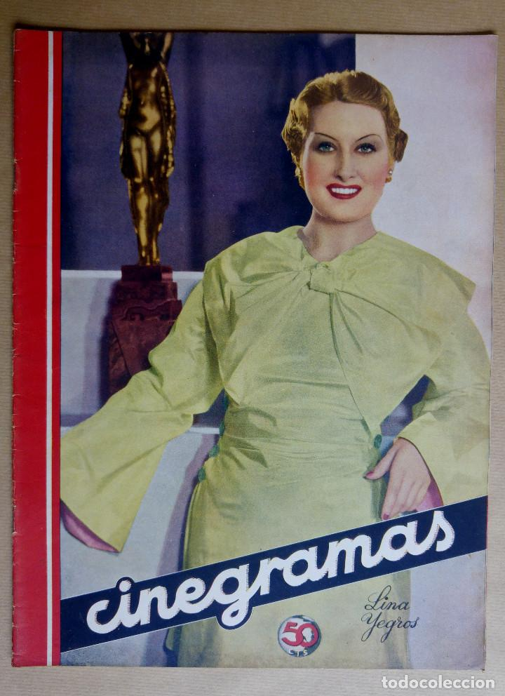 LINA YEGROS. REVISTA CINEGRAMAS. AÑO 1936 (Cine - Revistas - Cinegramas)