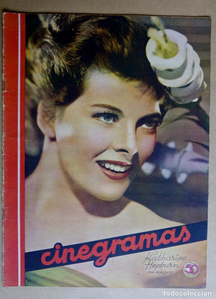 KATHERINE HEPBURN. REVISTA CINEGRAMAS. AÑO 1936 (Cine - Revistas - Cinegramas)