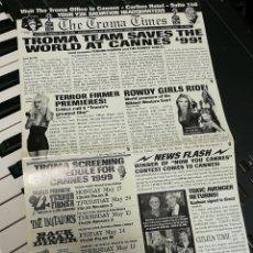 Cine: PUBLICIDAD CINE TROMA SPECIAL CANNES, 1999- LLOYD KAUFMAN.. Lote 151431889