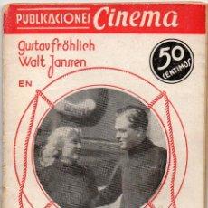 Cine: EL RAPTO. PUBLICACIONES CINEMA Nº 19, BASADA EN LA PELÍCULA DE GERA VON BOLVARY. Lote 151581910