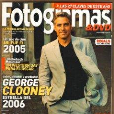 Cine: REVISTA FOTOGRAMAS GEORGE CLONEY - KEIRA KNIGHTLEY Nº 1947 ENERO 2004. Lote 151650218