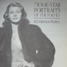 Cine: LIBRO CINE MOVIE STAR PORTRAITS OF THE FORTIES 1977, 164 PAGINAS. Lote 151982878