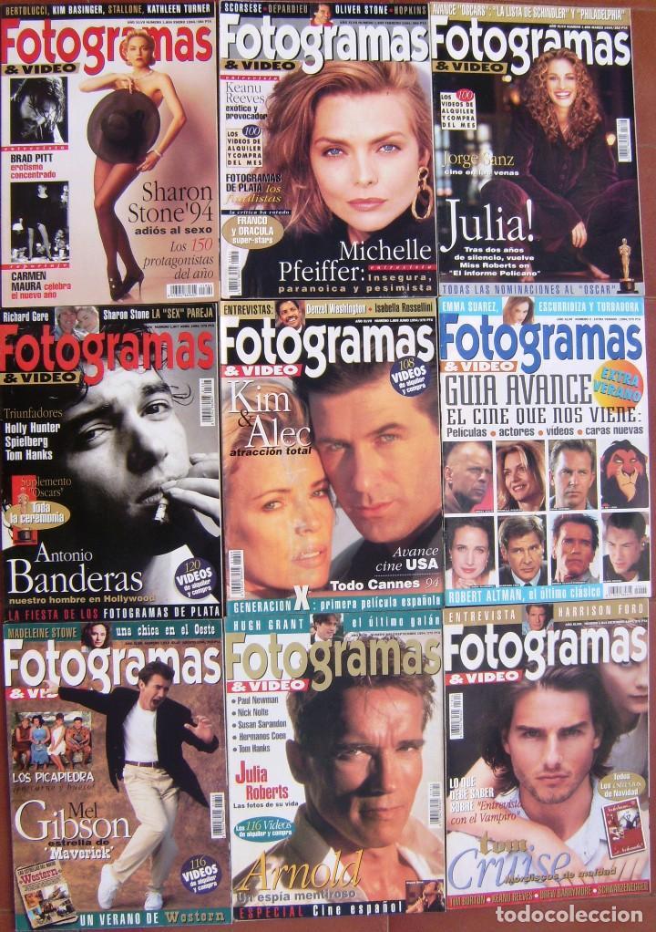 LOTE 9 FOTOGRAMAS 1994 (Cine - Revistas - Fotogramas)