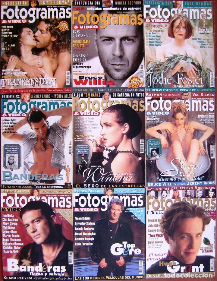 LOTE 9 FOTOGRAMAS 1995 (Cine - Revistas - Fotogramas)