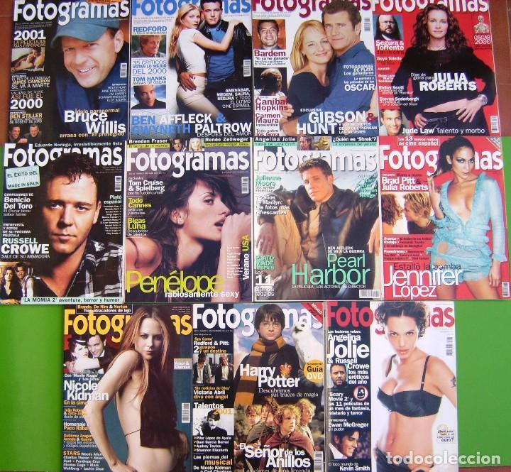 LOTE 11 FOTOGRAMAS 2001 (Cine - Revistas - Fotogramas)