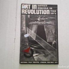 Cine: ART IN REVOLUTION - SOVIET CINEMA IN THE 20'S. Lote 152280902